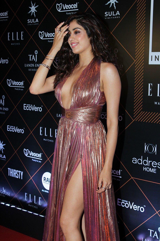 Actress Janhvi Kapoor At Elle Beauty Awards Photo Shoot Stills (1)