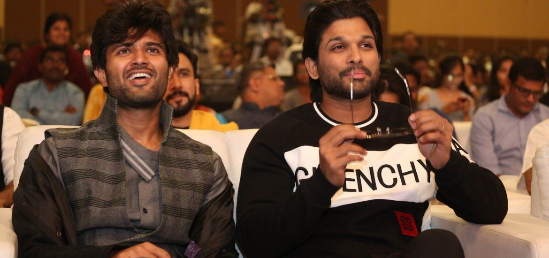 Allu Arjun, Vijay Deverakonda during Taxiwala Pre Release event 1